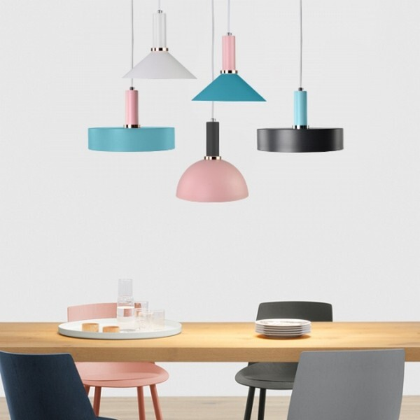 18park-精品館吊燈 [燈座-14cm,燈座-粉藍色,燈罩-圓盤,燈罩顏色-藍綠色]