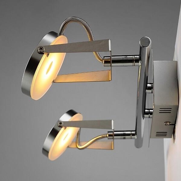 18park-微型壁燈-雙燈 [銀色,全電壓]
