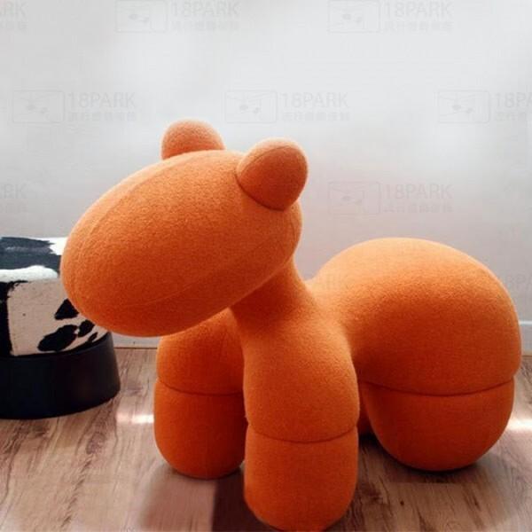 18park-pony 椅 [布,橘色]