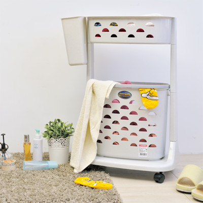 【ikloo】可移式上下雙層洗衣籃 (4折)