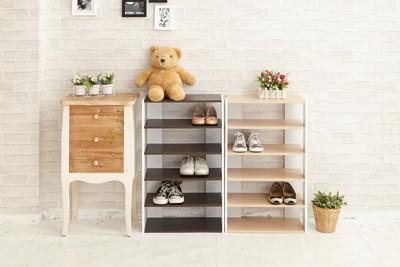 【ikloo】日系優雅五層木質鞋櫃◆2色可選 (3.5折)
