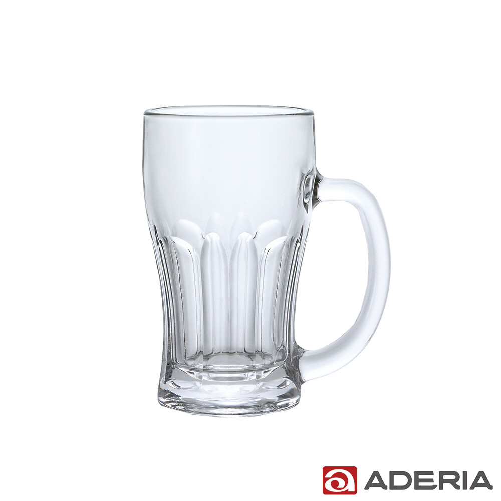 aderia日本進口玻璃啤酒杯380ml(淺酌款)
