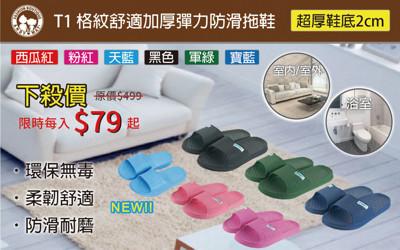 超彈力舒適加厚防滑拖鞋 (1.6折)