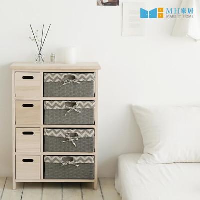 抽屜櫃 實木櫃 收納櫃 韓國 佛瑞斯森林原木8格抽屜櫃 MH家居 (9.5折)