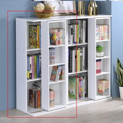 [one生活]小尺寸雙排活動書櫃 大容量書櫃 寬60cm 全鋼鐵鋼珠滑輪 展示櫃 - 小書櫃1入 (10折)