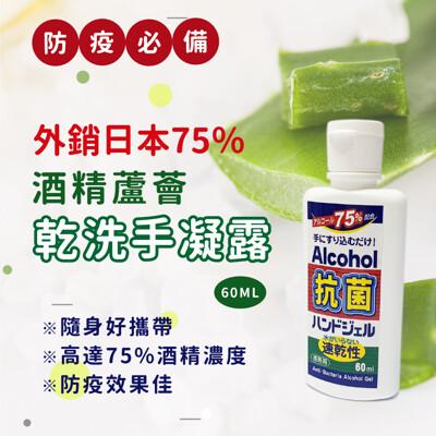 【防疫必備】外銷日本升級版75%酒精蘆薈凝露乾洗手 (5.4折)