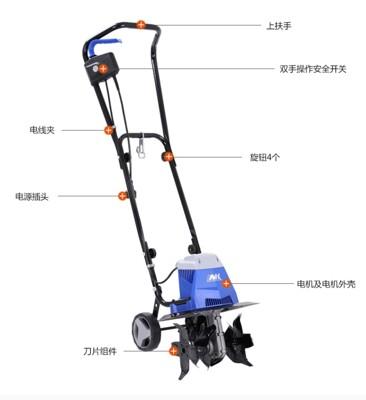 ~家用大功率電動鬆土機微耕機翻土機小型犁地機打地刨地挖地果。 (5折)