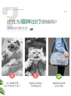 貓包透明包寵物背包貓咪外出便攜包貓籠狗狗書包寵物包手提太空包 (5折)