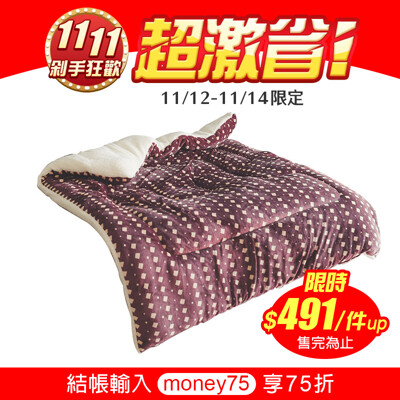 [翔仔居家] MIT首創專利防靜電 極厚法蘭絨暖暖被 (多款任選) (3.3折)