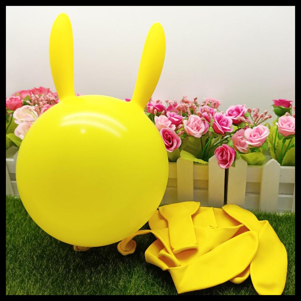 現貨玩具氣球 長耳兔 (8入) 佈置 兒童玩具 生日 派對 幼稚園 兔子 小白兔氣球快易送