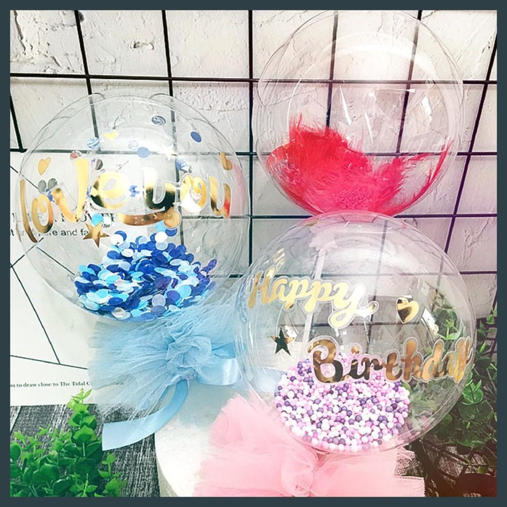現貨5吋 波波球 羽毛 透明球 泡泡球 生日 浪漫 亮片 氣球 情人節 派對 拍照氣球快易送