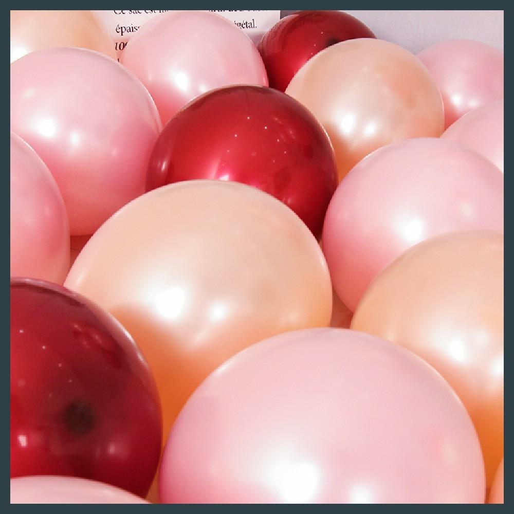 現貨牌 真珠面11吋圓球(100入)單色包 美國製 生日佈置 婚禮 活動會場 畢業 舞會