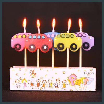 現貨卡通造型蠟燭 生日蠟燭 美人魚 汽車 花園植物 兔子 恐龍 小黃人 慶生氣球快易送 (2.3折)