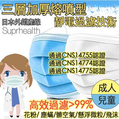 【CNS認證】成人/兒童/幼幼任選  三層加厚熔噴布口罩 三層口罩 兒童口罩 免運直出 (1.2折)