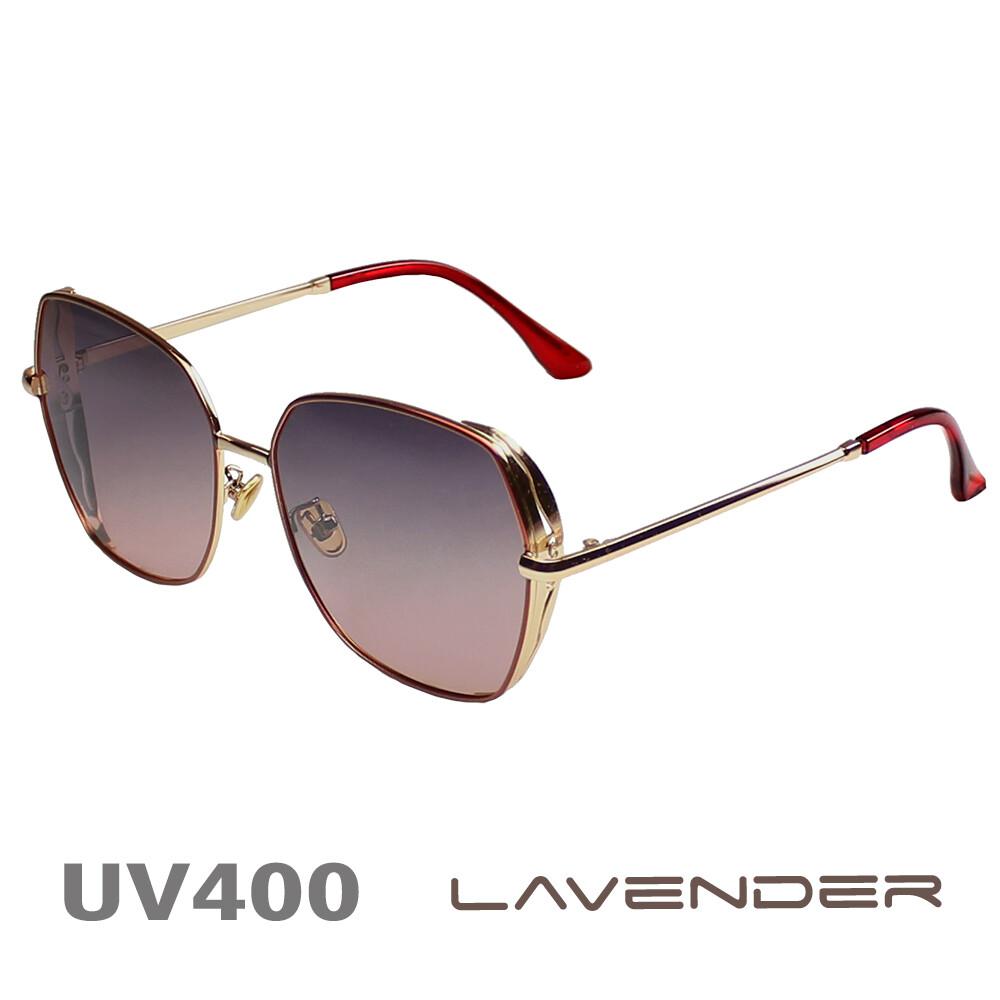 lavender 偏光太陽眼鏡 韓版邊框簍空款 時尚紅 8907 c05