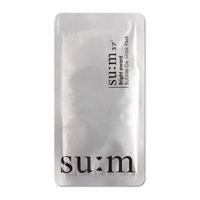 韓國 su:m 37 三合一氧氣泡泡面膜(4.5ml) 白色面膜/泡泡面膜/面霜 (8.2折)