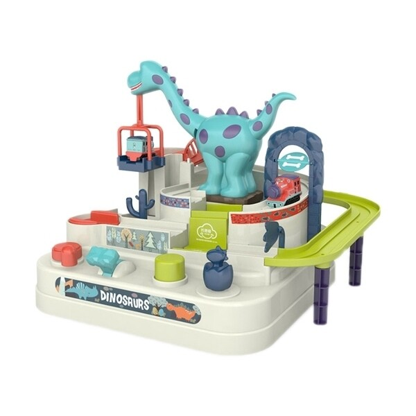 汽車軌道大冒險玩具(恐龍款)1組入  限宅配玩具/汽車玩具/嬰幼玩具