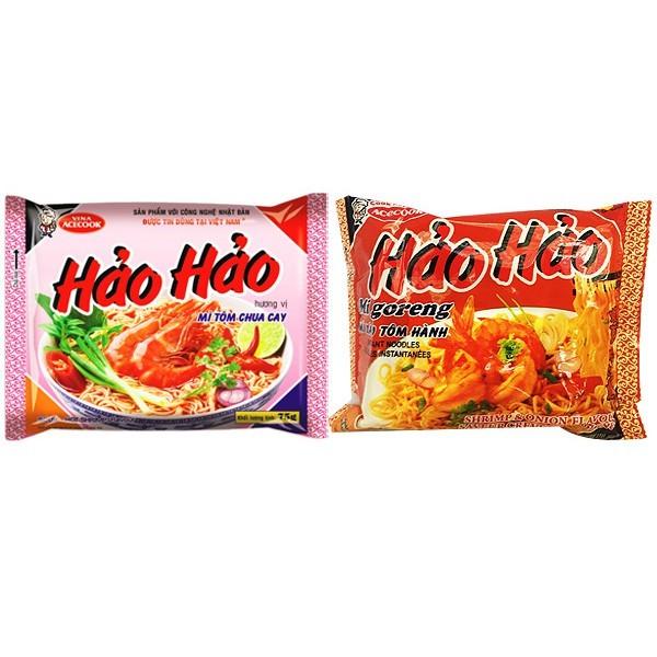 越南 haohao 酸辣蝦味麵蝦蔥味炒麵(1包入)  團購/泡麵/拉麵