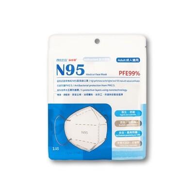 台灣優紙~N95醫療口罩(單片) DS003180 (4.4折)