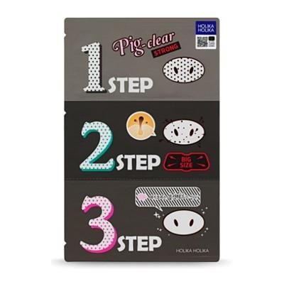 韓國holika holika 豬鼻子黑頭三步驟(強力加大版) 粉刺清理/鼻頭清潔/黑頭去除 (2.7折)