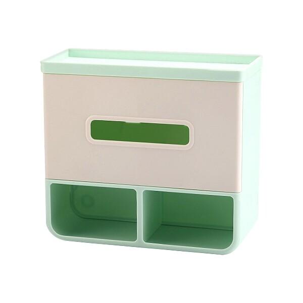 免鑽孔多功能廁所面紙盒衛生紙架(1入) 顏色隨機出貨 空運禁送 收納盒/壁掛面紙盒/平放面紙盒
