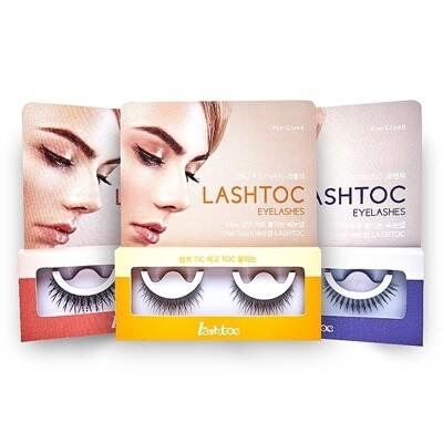 韓國 LashToc~自黏式假睫毛(1對入) 款式可選 假睫毛/睫毛夾/睫毛膠 (7.7折)