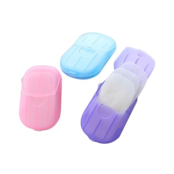 旅行便攜式肥皂香皂紙(20張)顏色隨機 肥皂/香皂/香皂紙