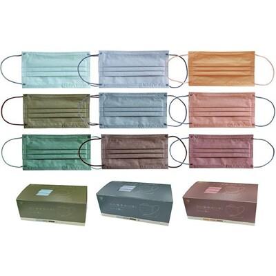 天心~成人平面醫療用口罩(3款x10片入)莫蘭迪系列 款式可選 md雙鋼印 ds003163 (8折)