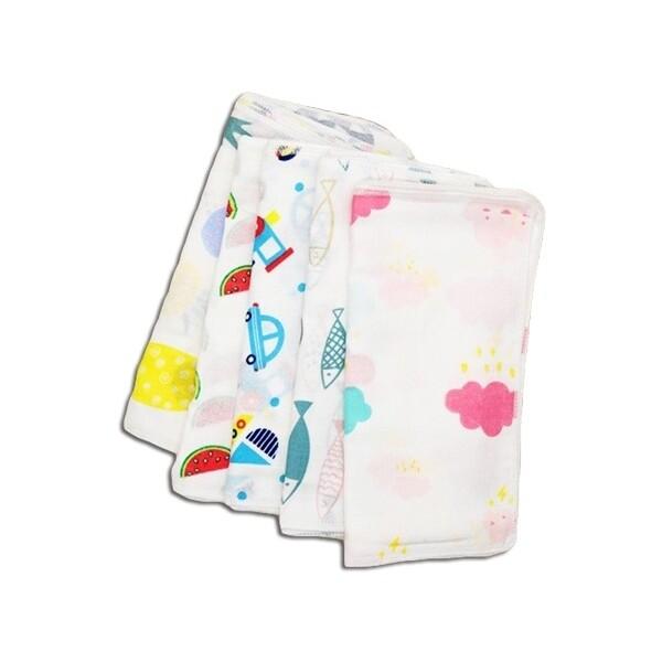 日系精巧花紋方巾(1入)   款式隨機出貨方巾/毛巾/洗臉巾