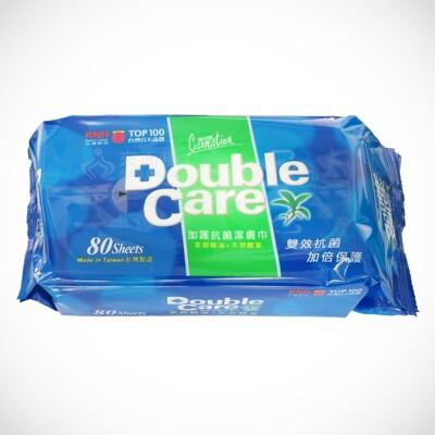 來而康 康乃馨 Double Care 加護抗菌潔膚巾 一箱販售(80片x12包) 濕紙巾 濕巾 (8.3折)