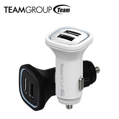 Team WD01 4.8A高規雙USB輸出車用充電器(2色) (6.4折)