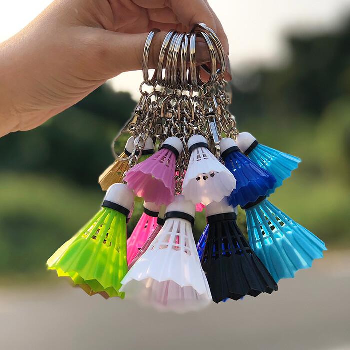 羽球鑰匙圈 羽球 羽毛球 掛件 鑰匙圈 吊飾 紀念品 鑰匙扣 運動會 贈品葉子小舖