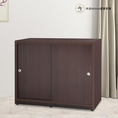 【米朵Miduo】4.1尺拉門塑鋼衣櫥 推門衣櫃 棉被櫃 塑鋼家具 (6.7折)