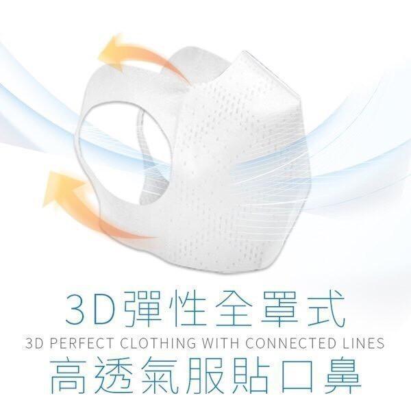 少量供貨 成人l 台灣製 無痛感 3層 3d 立體口罩 pm2.5 非醫療 1入