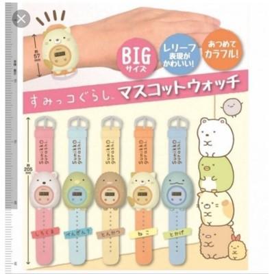 扭蛋批發 日本 正版 角落生物 扭蛋 手錶 可愛 透亮錶帶 白熊 企鵝 炸豬排 (5.8折)