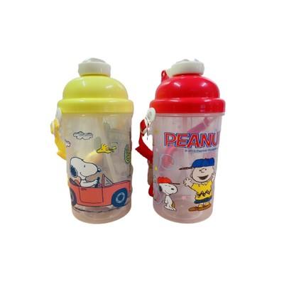 正版授權 snoopy 史努比 500cc 兒童彈蓋水壺 背帶式水壺 塑膠水壺37lh6817 (2.4折)