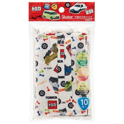 現貨 日本進口 SKATER TOMICA 小車 汽車 三層 不織布 兒童 幼兒 口罩 立體 平面 (5.1折)