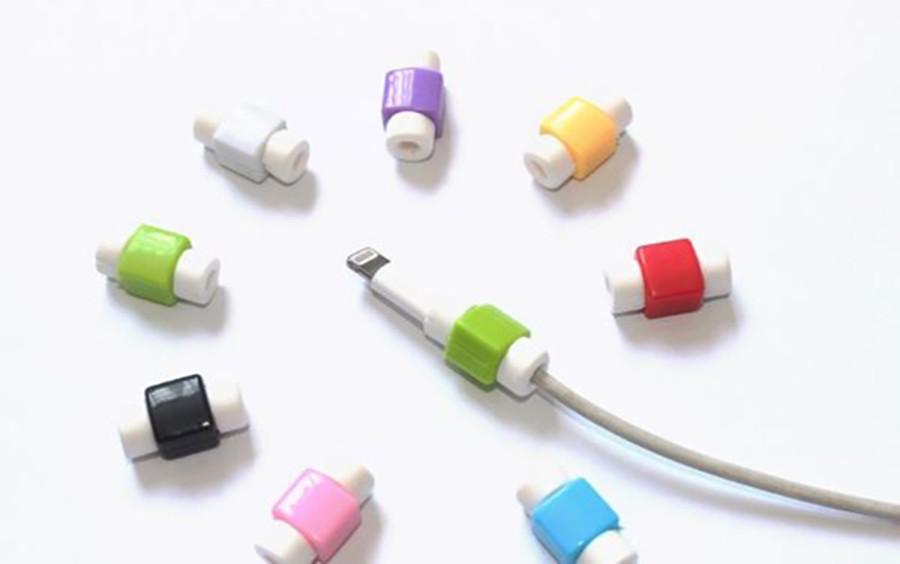 現貨/創意蘋果數據線保護套 充電線保護套(隨機出貨不挑色)