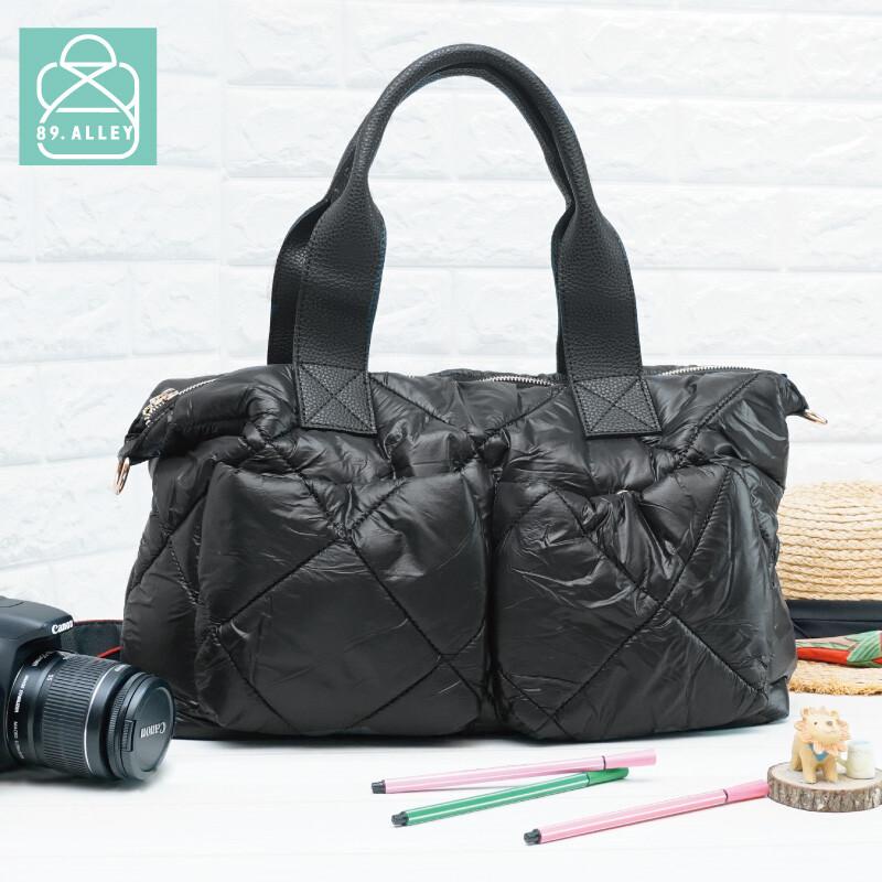 空氣包 側背包 防潑水大容量兩用手提媽媽包 女包 89.alley