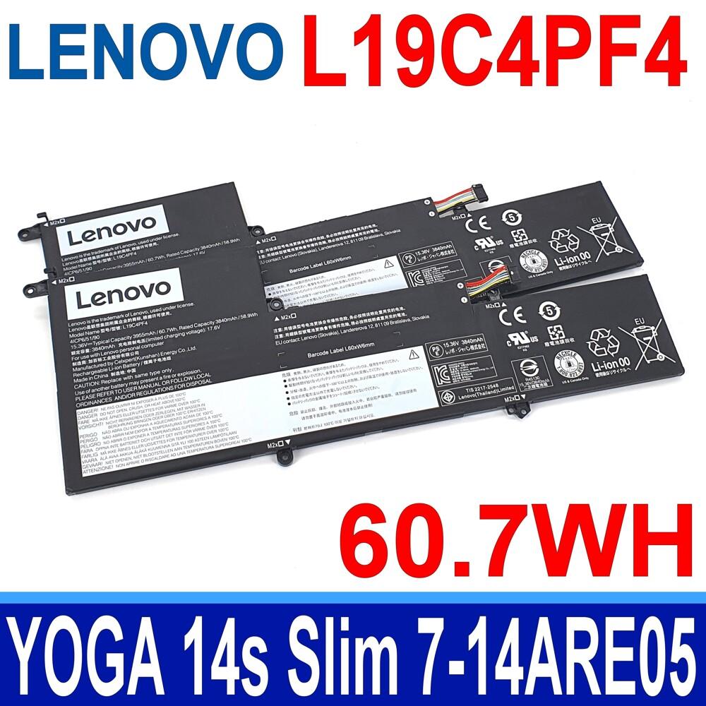 lenovo l19c4pf4 原廠電池 yoga 14s slim 7-14are05