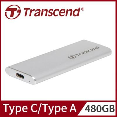 Transcend 創見480GB ESD240C SSD USB3.1/Type C雙介面行動硬碟 (9.2折)