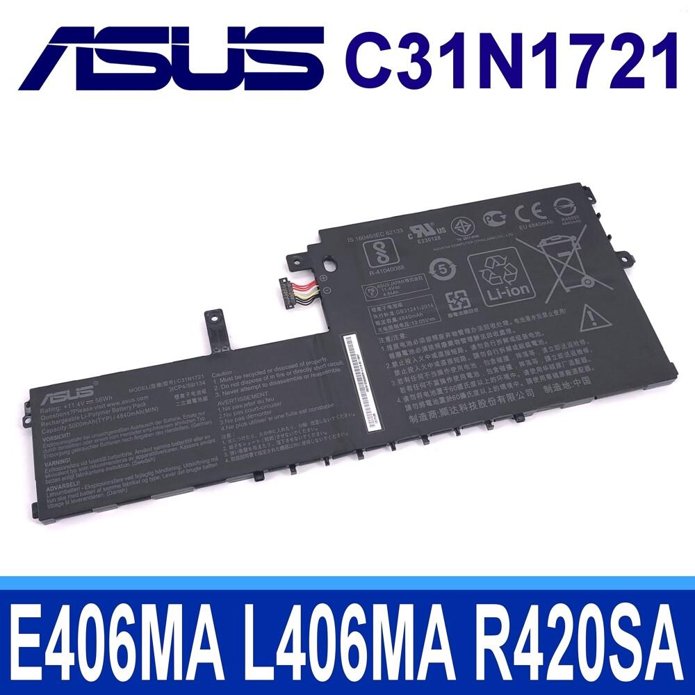 華碩 c31n1721 原廠電池e406ma e406sa l406ma l406sa r420sa