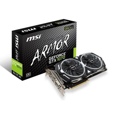 現貨1片 MSI 微星 GEFORCE GTX 1070 ARMOR 8GB OC Edition (10折)
