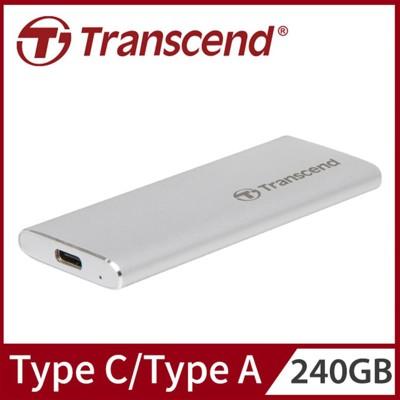 Transcend 創見 240GB ESD240C SSD USB3.1/Type C 雙介面行動 (9.2折)