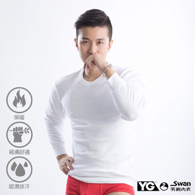 YG天鵝內衣 MIT製排汗保暖圓領長袖衫 (6.1折)