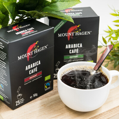 【Mount Hagen】德國進口 歐盟有機認證 有機一般&低咖啡因即溶咖啡粉(1入=1盒=25包) (6.1折)