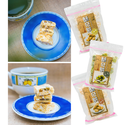 【即期品】特殊口感 酥奇餅 - 檸檬、椰子、抹茶3種口味優惠組合(180g) (1.2折)