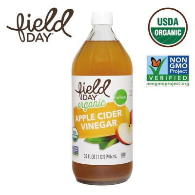 【Field Day 踏青日】無基因改造 有機蘋果醋(32 oz/946ml) (7.5折)