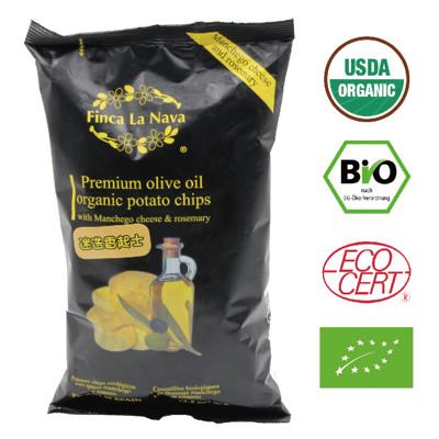 【芬拿有機農場】特級冷壓初榨橄欖油油炸 有機橄欖油洋芋片-迷迭香起士 (5折)