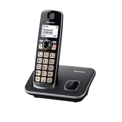 【贈國際牌電鬍刀】國際牌Panasonic KX-TGE610 TWB  可搭配助聽器中文無線電話 (8.9折)